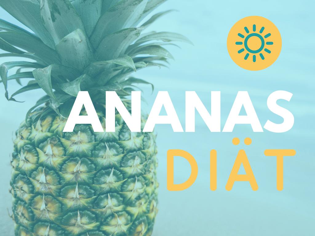 Ananas-Diät in seinem Saft